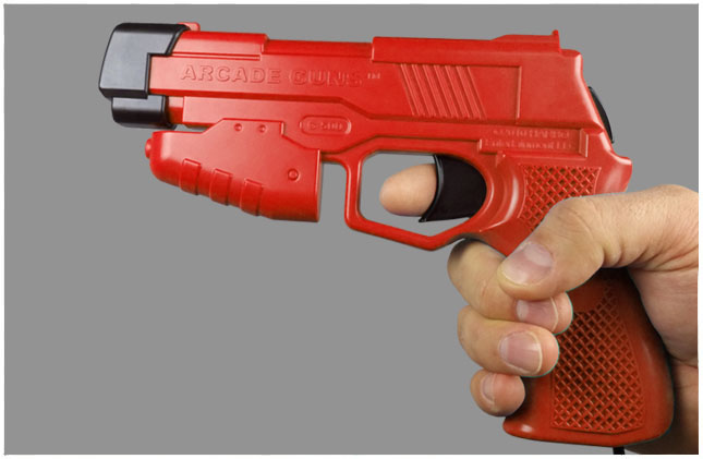 Single Arcade Guns v2.0 Red Gun Kit